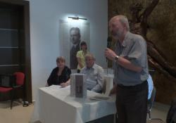 Az új fogadótér a megújult Kisfaludi kiállítás átadása