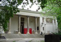 A budapesti Képzőművészeti Főiskola szobrászati pavilonja az Epreskertben