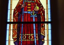 Becsehely, r.k. templom, Szt. István, üvegablak