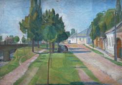 06 Szolnoki utca, vászon, olaj, 60x74 cm