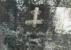 Jel, 1994, vegyes t, farost, 100x100 cm