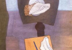 08 Csendélet patkó alakú asztalon, 1934.
