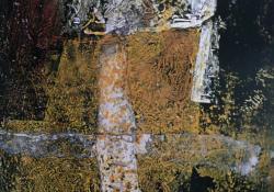 Kompozíció, 1997, akril, papír, 22x13,5 cm