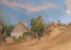 08 Tihany, 1960, papír, akvarell, 48,5x60cm