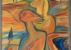 11 Utazás Zalába, 1988, vászon, olaj, 100x70 cm