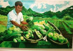 12. Kedves barátom megmutatja, milyen volt a termés, 2005,olaj-vászon