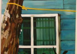 13. Szélső szoba, 2005, olaj-vászon, 70x70 cm