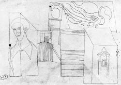 15 Falusi motívumok önarcképpel, 1937.