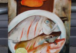7. Vacsora, 2004, olaj-vászon,80x40 cm
