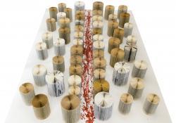 Az út, papír, akril,, 230x157x24 cm