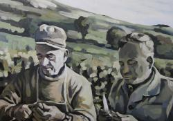 A fischerben, 2012, olaj, vászon, 100x100cm