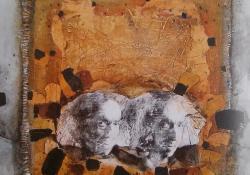 A költő, 2008, vegyes t, vászon, 70x70 cm