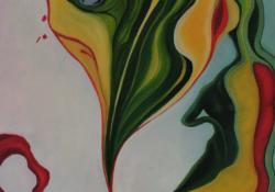 A letépett liliom könnye, 2012, vászon, olaj, 80x60 cm