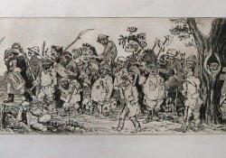 A magyarok bejövetele, 1980 k, rézkarc, 170x595 mm