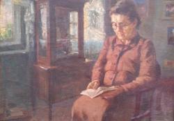 A művész édesanyja, olaj, vászon