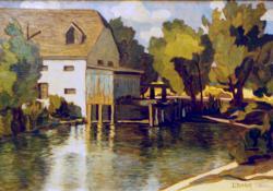 A zalai Baumgartner-malom, olaj, karton, 50x70 cm