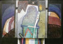 Állvány, 2003, olaj, falemez