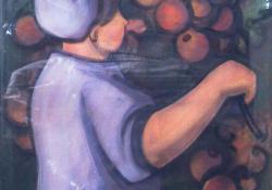 Almaszedő, 1972, akvarell, 80x60 cm