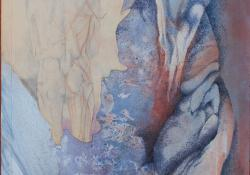 Anatómia, 1990, vegyes techn, farost, 40x39 cm