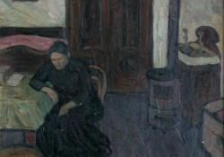 Anyám a szobában, 1910.