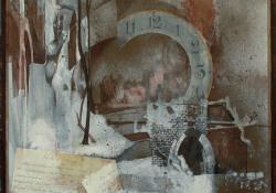 Apám-emlékére, 1986, vegyes techn, farost, 40x40 cm