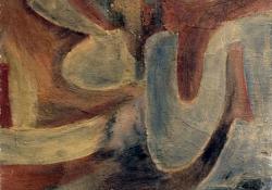 Árnyékforma, 2002, vegyes techn, karton, 110x70 cm