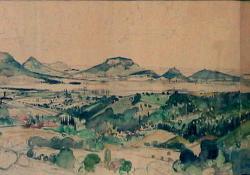 Balatoni táj, 1948, akvarell, papír