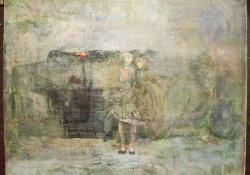 Ballagás, 2010, Olaj, vászon falemezen, 20x25 cm