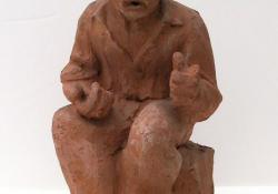 Beszélő, 1960, terrakotta, 30 cm
