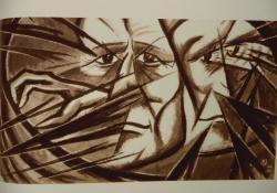Betörő arcképe, 1921, akvarell, papír, 44x30,5 cm