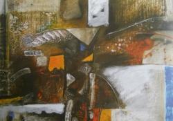 Blues VIII, 1994, olaj, vászon, 71x71 cm