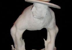 Bosch-fantázia, 2003, fehér samott, 39 cm