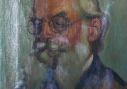 Brunner Mihály portréja, 1927, olaj, vászon