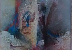Búcsú a falaktól, 2007, vegyes techn, farost, 61x60 cm