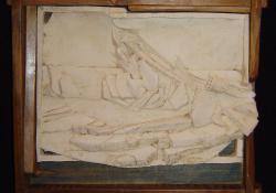 C. D. Friedrich, fehér samott, fa