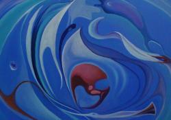 Csak együtt lehet II. 2011, vászon, olaj, 95x95 cm