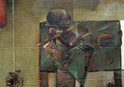 Csendélet, 1985, olaj, vászon, 64x64 cm