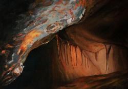 Cserszegtomaji kútbarlang, 2005, vászon, olaj, 50x60 cm