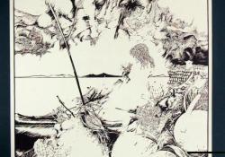 Dalmát part, 1986, offszetnyomat, papír, 55x40 cm