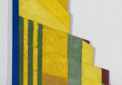 Dimenzió, 2007, fa, akril, olaj, 65x24 cm