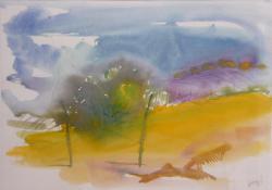 Domboldal Botfán, 1999, papír, akvarell, 50x65 cm