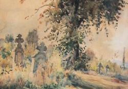 Egerszegi temető, papír, akvarell, 1947.