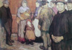 Éjjeli menhely előtt, 1907.