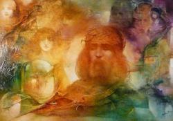 Éli, Éli, lamma sabaktáni!, olaj, vászon, 70x100 cm