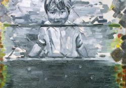 Élmény, 2004, olaj, vászon, 70x100 cm
