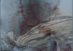 Emlék, 1990, vegyes techn, farost, 52x52 cm