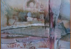 Emlékképek, 1994, vegyes techn, farost, 47x46 cm