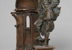 Építész, 2004, bronz, kő, 24 cm