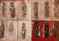 Fal, 2013, akril, falemez, 20x30 cm