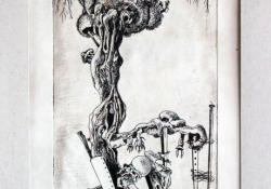 Fatanulmány a 20. századból, 1980, rézkarc, 318x147 mm